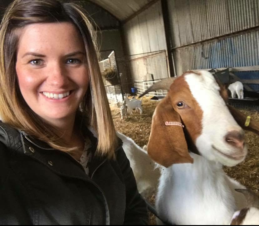 kirsty and goat